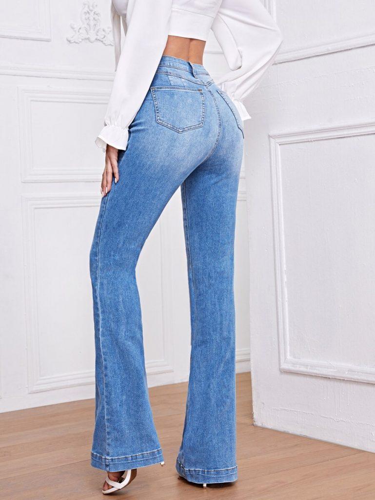 a-model-wearing-bell-bottom-jeans