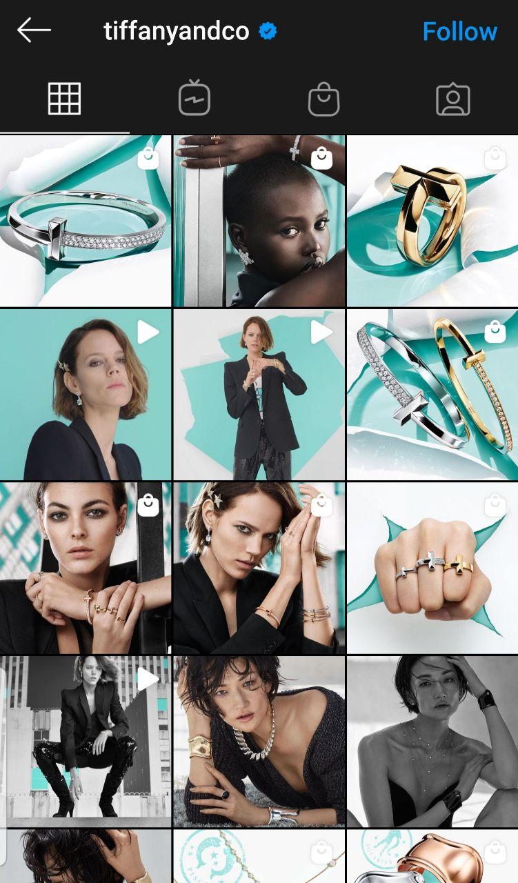 Tiffany Instagram page