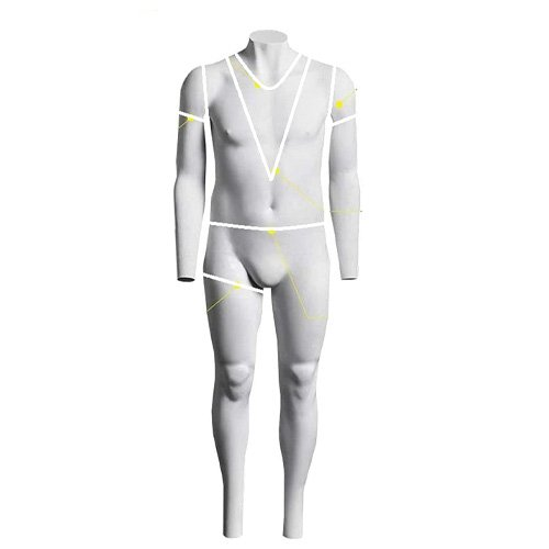 usakhv male headless men ghost mannequin full body fiberglass white model