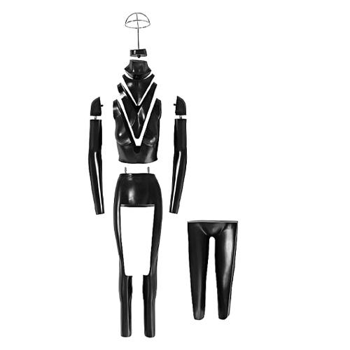 women ghost invisible mannequin v cut full body fiberglass model